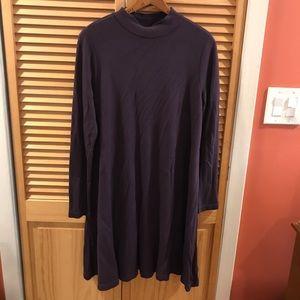 Loft Outlet   Purple Sweatshirt Swing Dress